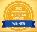 Constant Contact 2012 All Star Award Winner