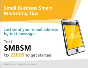 Text to Join Small Business Smart Marketing Newsletter