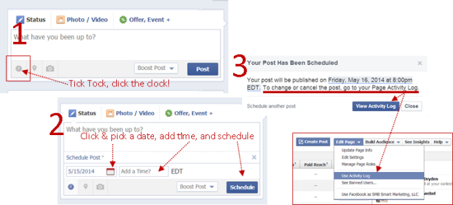 Facebook - How to schedule a post