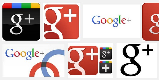 Google Plus Logo Collage