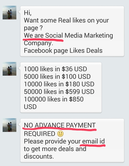 Warning Signals of Facebook Scam
